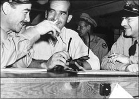 Brigadier General Lacy V. Murrow, Edward R. Murrow, and Colonel Ronan